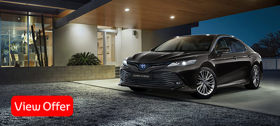 New Camry Hybrid</br><br> • Upgrade in Hybrid for Less with Finance*</br><br>• Plus 3 Years Servicing as Standard</br>