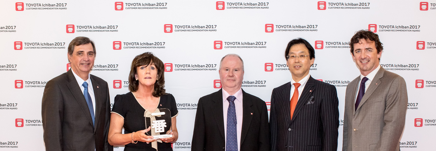 Toyota Motor Europe awards Lambe Brothers Car Sales Offaly as one of the 45 top performing retailers in Europe for Customer Recommendation