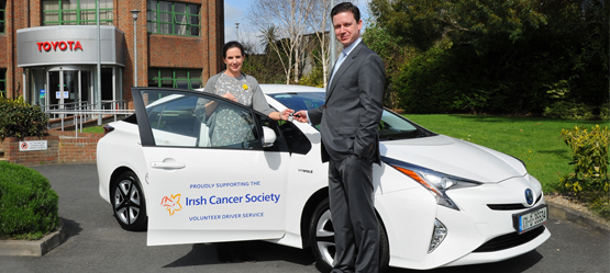Toyota Ireland donates Prius to the Irish Cancer Society