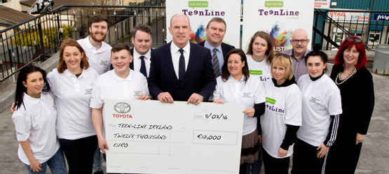 Toyota makes €12,000 donation to Teen-Line Ireland