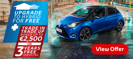 Drive a New 181 Yaris from €15,950 or €34 per week*