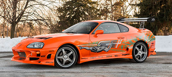 Coche Toyota Supra en Fast and Furious