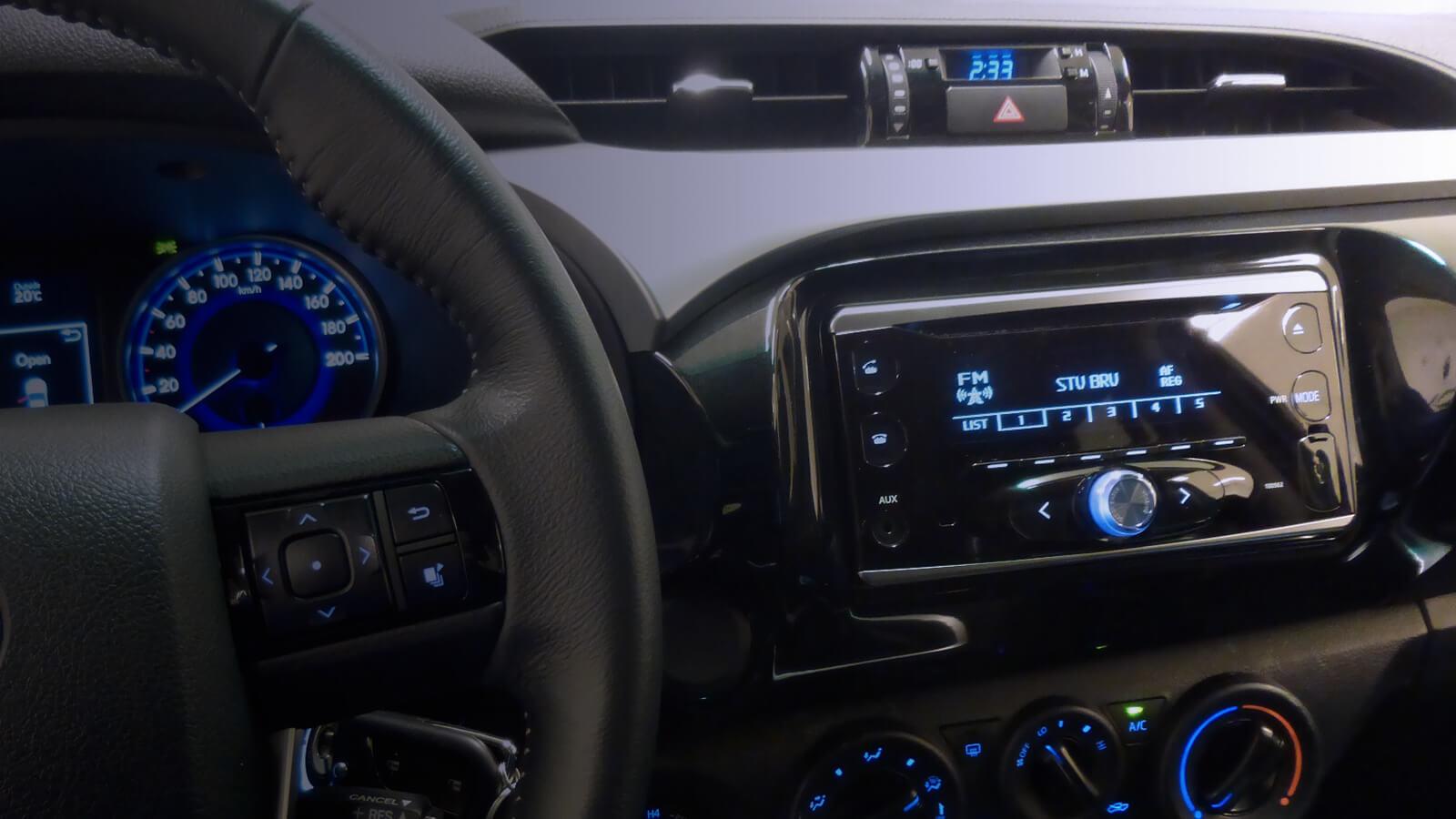 How Hybrid Cars Work >> Toyota Audio System