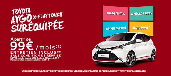 Toyota AYGO x-play touch