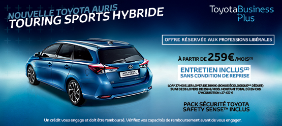 Nouvelle Toyota Auris Touring Sports Hybride Business