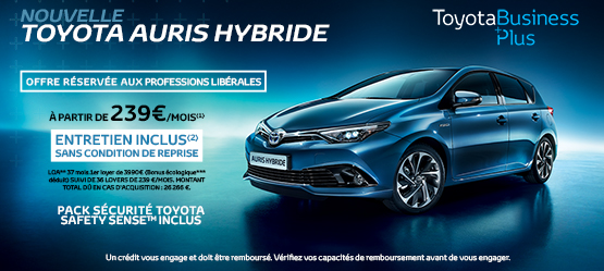 Nouvelle Toyota Auris Hybride Business