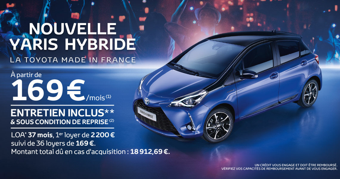 nouvelle toyota yaris hybride offre du moment. Black Bedroom Furniture Sets. Home Design Ideas