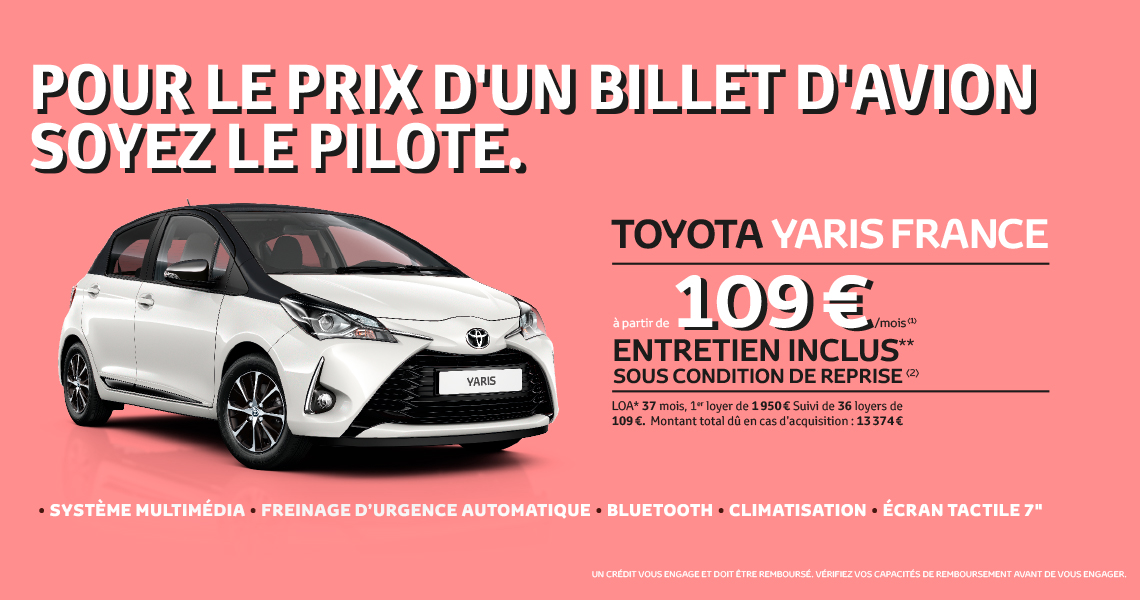 toyota yaris france offre du moment. Black Bedroom Furniture Sets. Home Design Ideas