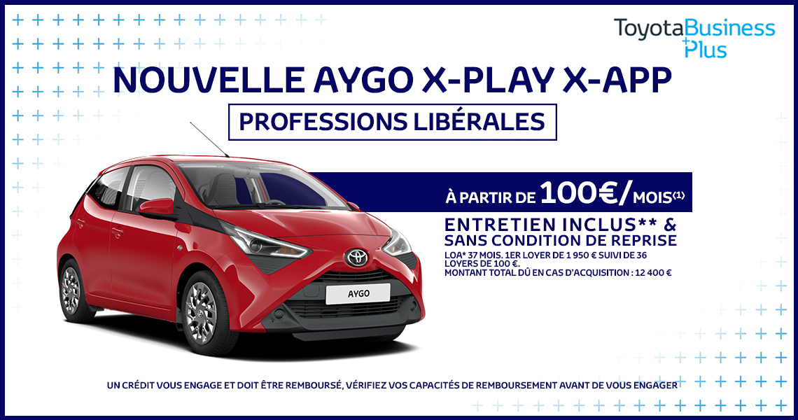nouvelle toyota aygo offre sp ciale professions lib rales. Black Bedroom Furniture Sets. Home Design Ideas
