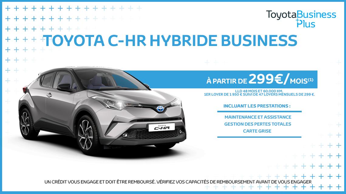 nouveau toyota c hr hybride business