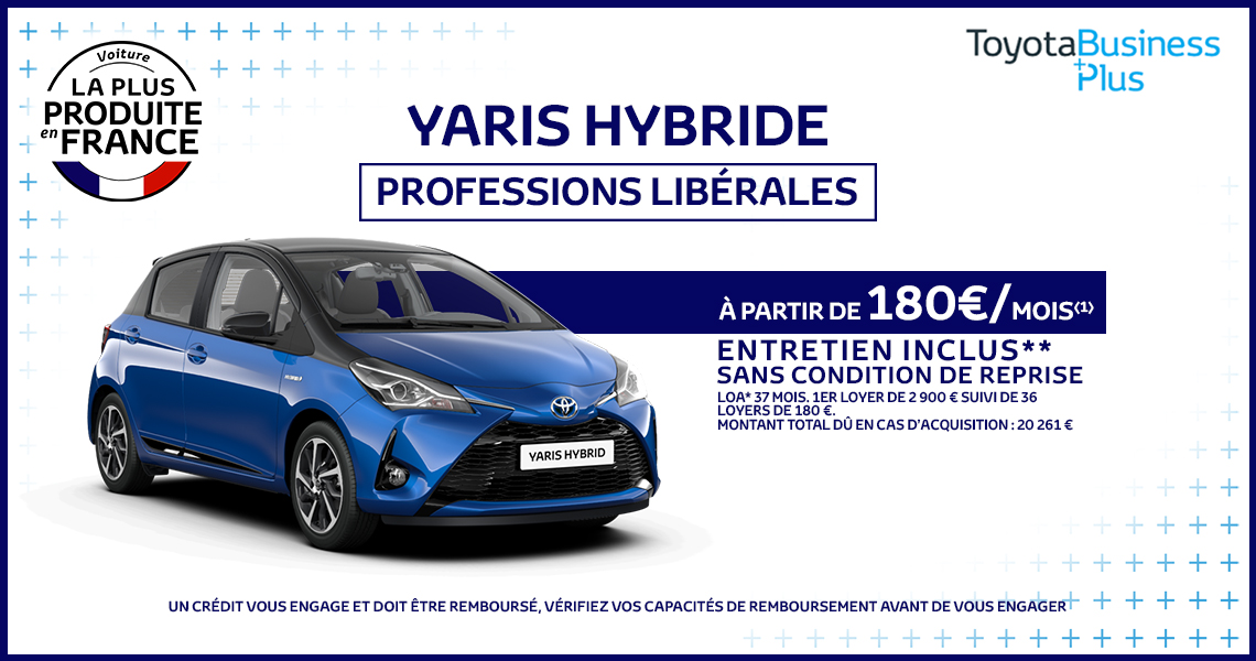 Toyota Yaris Hybride France Professions Libérales