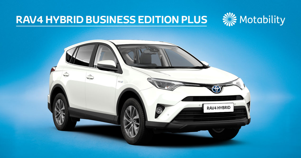 RAV4 Business Edition Plus 2.5 Hybrid Automatic inc Toyota Safety Sense Pre-Collision System £1995 advance payment (Motability Users Only)