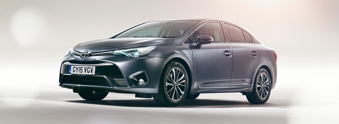 Toyota New Avensis, grey, exterior, front side view