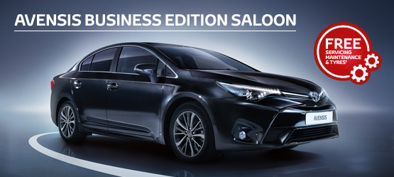 Avensis Business Edition Saloon from £184 + VAT per month†  (Contract Hire)