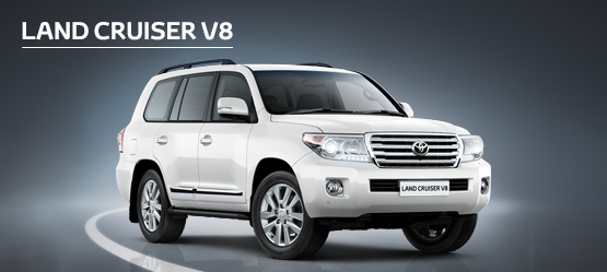 Land Cruiser V8 from £687 + VAT per month† (Contract Hire).