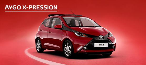 AYGO X-pression with Nil advance payment (Motability Users Only).