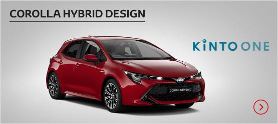 Corolla Hybrid Design £232 + VAT per month* (Customer maintained)