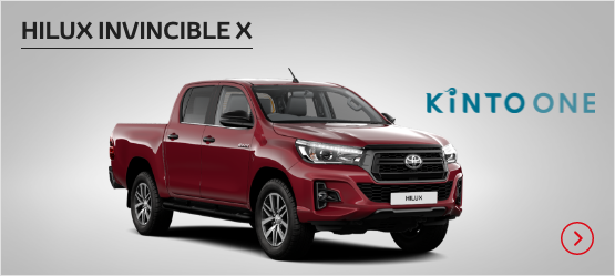 Hilux Invincible X £301 + VAT per month* (Customer maintained)