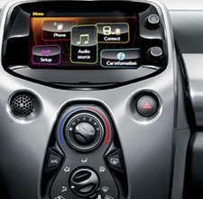Toyota Aygo, interior, control panel close up