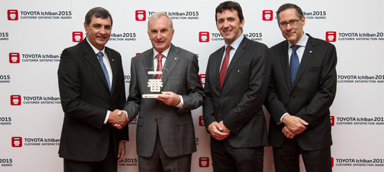 Toyota Motor Europe awards Tony Burke Motors Galway