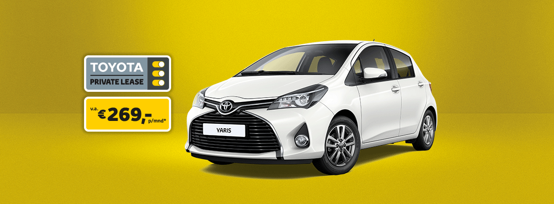 met toyota private lease een yaris v a 269 p mnd. Black Bedroom Furniture Sets. Home Design Ideas