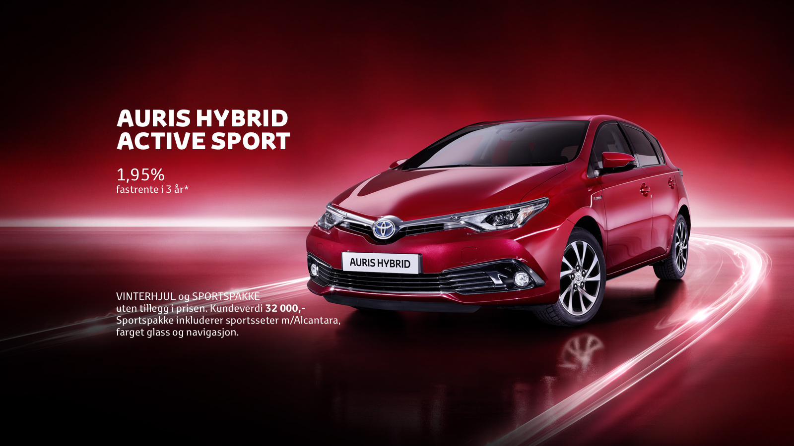 Auris Hybrid Active Sport - Privatleie 2 150,- /md.